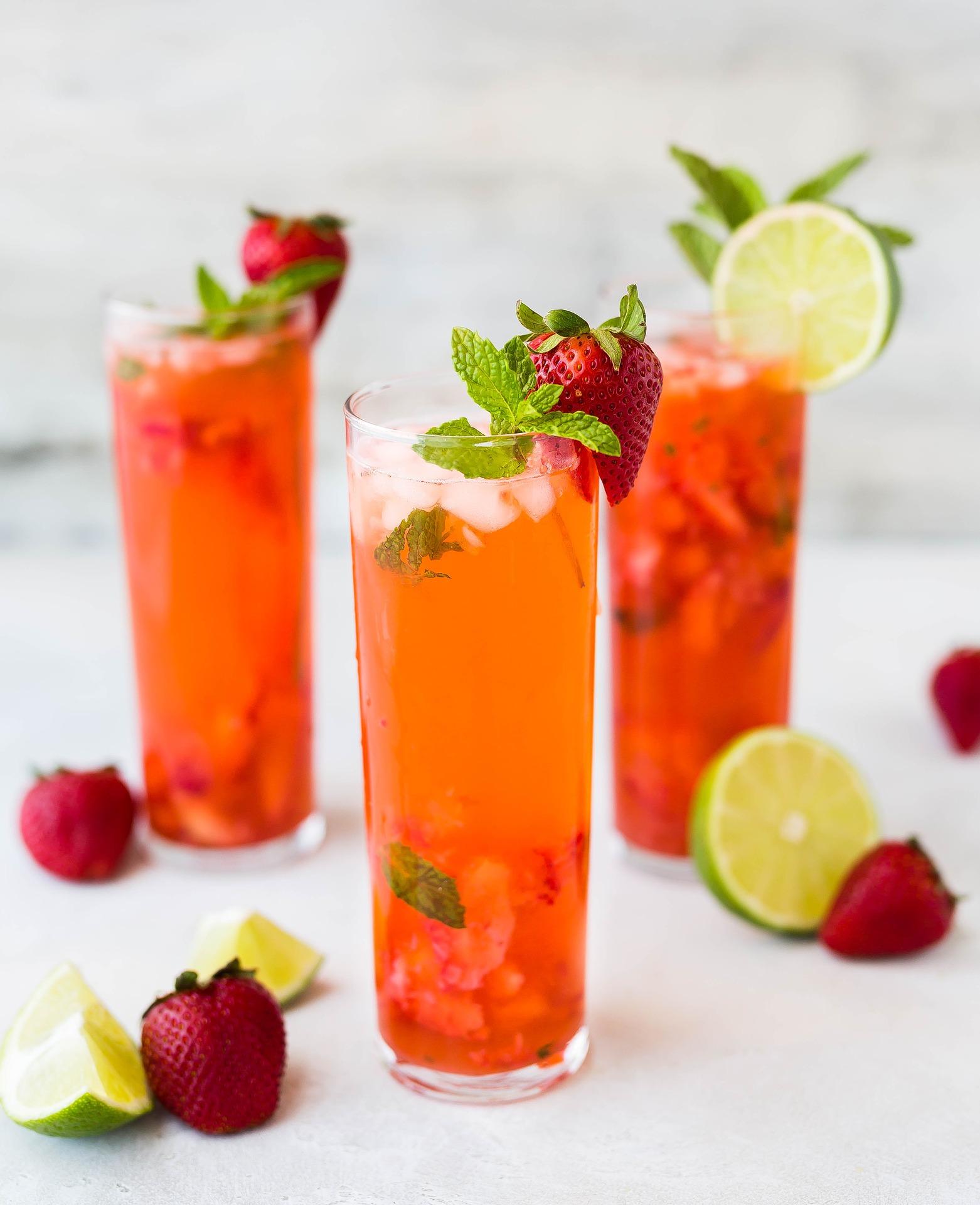 Erdbeer-Limetten-Saft